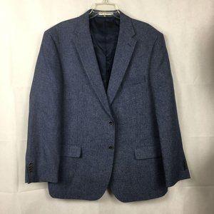 Joseph Abboud Linen Wool Blue Sport Coat Sz 48R